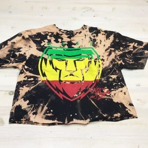 Tops - Neff bleach dyed cropped tee sz M